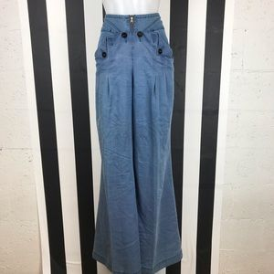 5 for $25 Elevenses Blue Nautical Wide Leg Pants